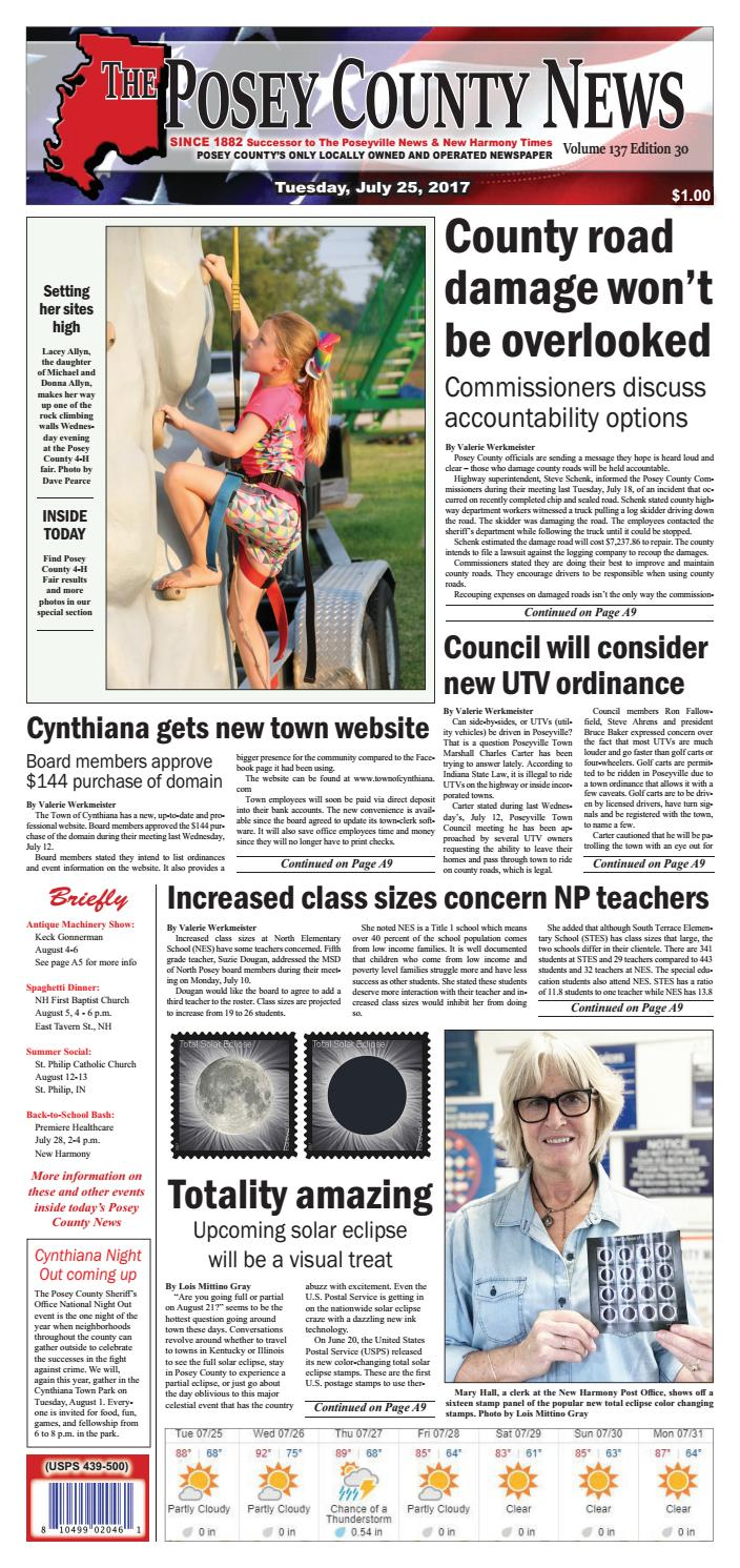 July 25 2017 The Posey County News By The Posey County News Issuu