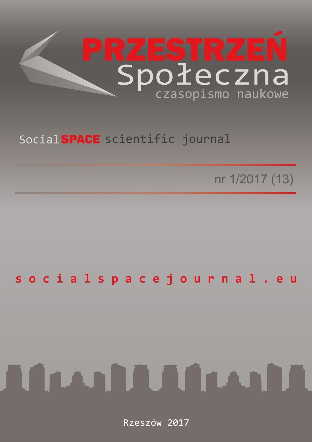 Przestrzeń Społeczna (Social Space) no 1/2017 (13) by