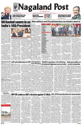 July 26, 2017 by Nagaland Post - issuu 713c5dca1d1