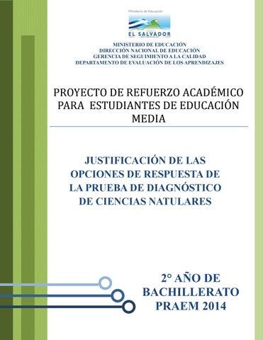 Respuesta diagnostico ciencias naturales segundo by Arnoldo Romero ...