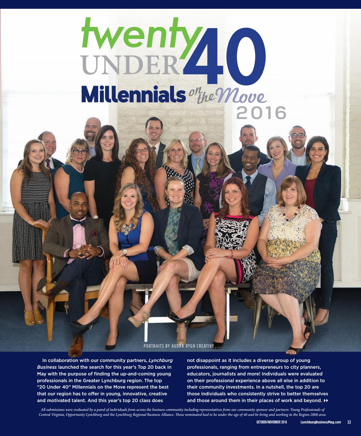 Lynchburg Business Mag Millennials on the Move 2016 by VistaGraphics