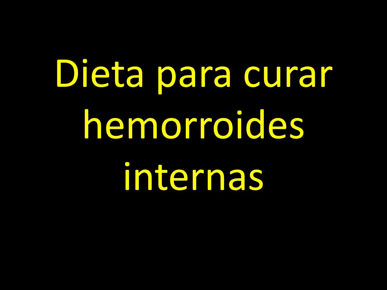 dieta para sanar las hemorroides