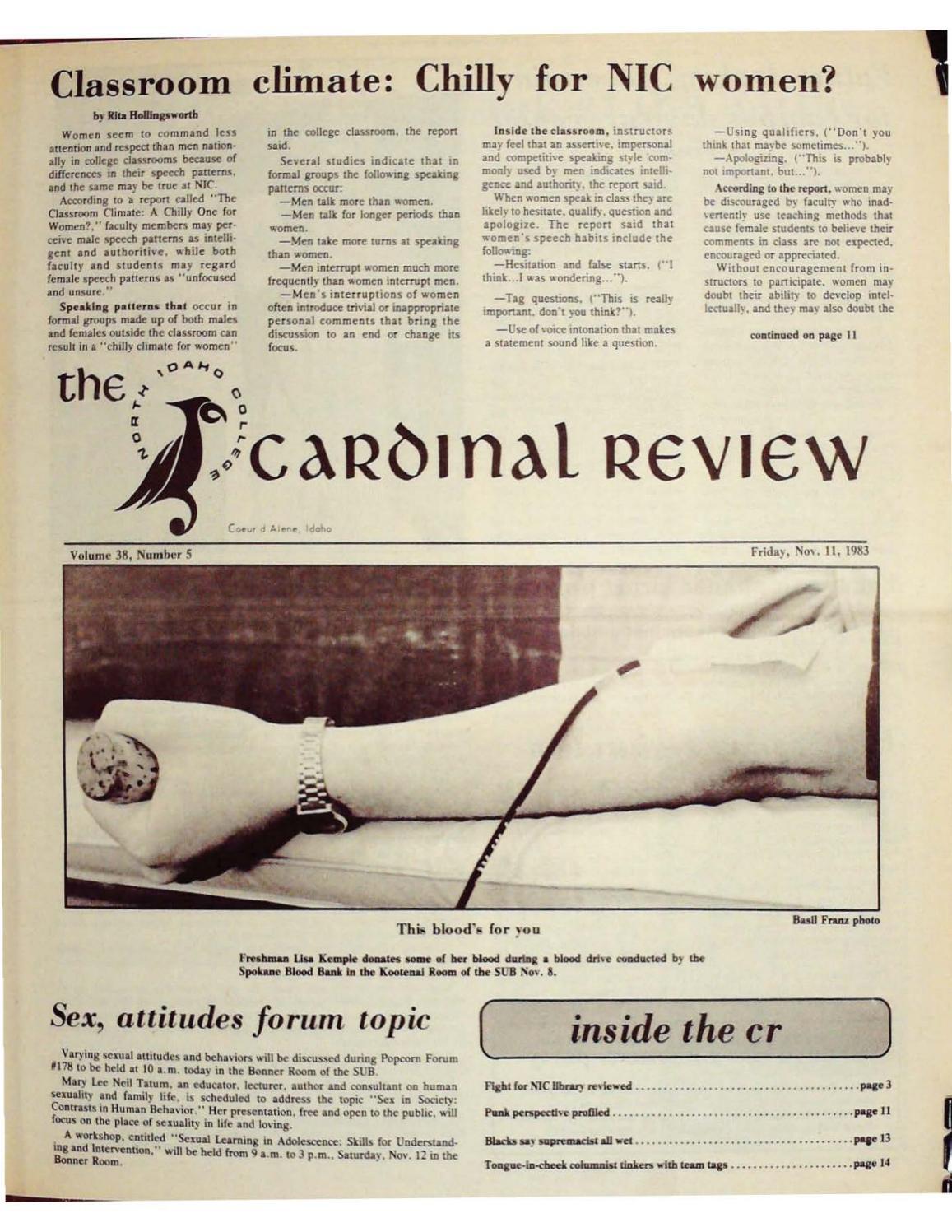 North Idaho College Cardinal Review Vol 38 No 5, Nov 11