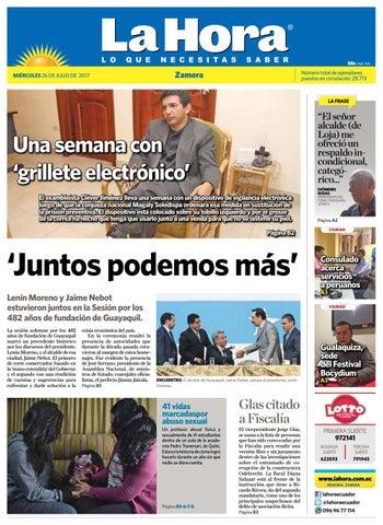 5a6c8fad9b9d0 Diario la hora zamora 26 de julio 2017 by Diario La Hora Ecuador - issuu