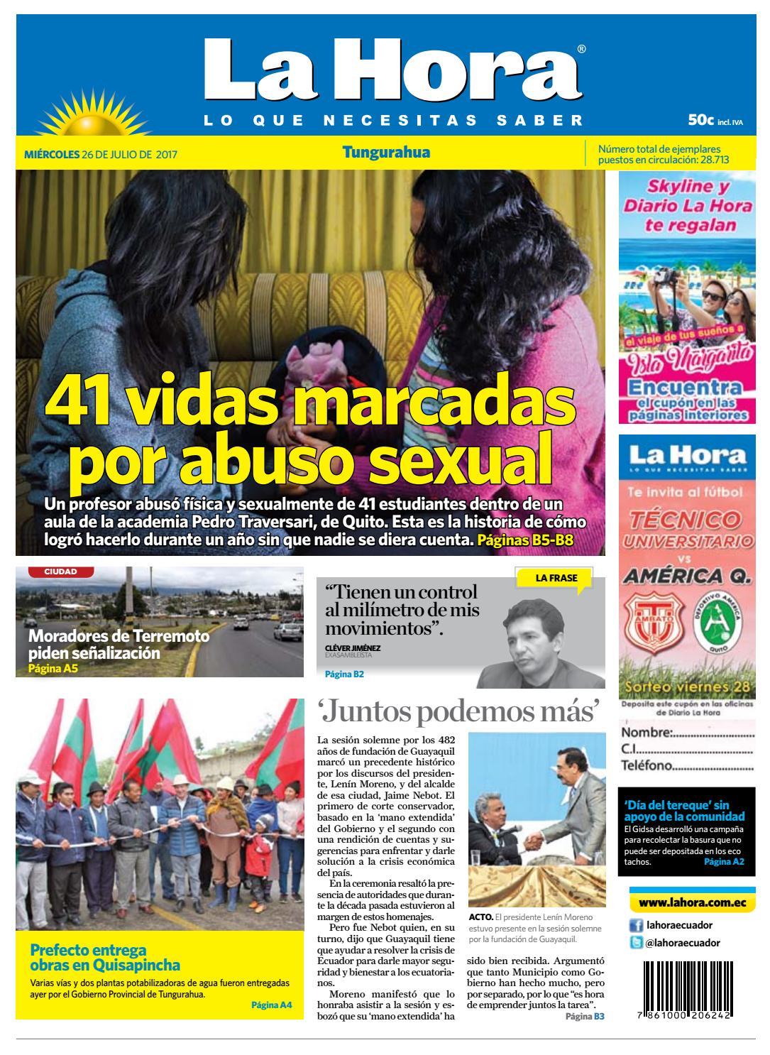 Tungurahua 26 De Julio De 2017 By Diario La Hora Ecuador Issuu