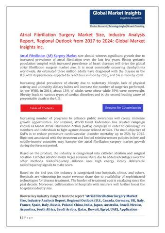 Atrial fibrillation surgery market by shreepowar - issuu