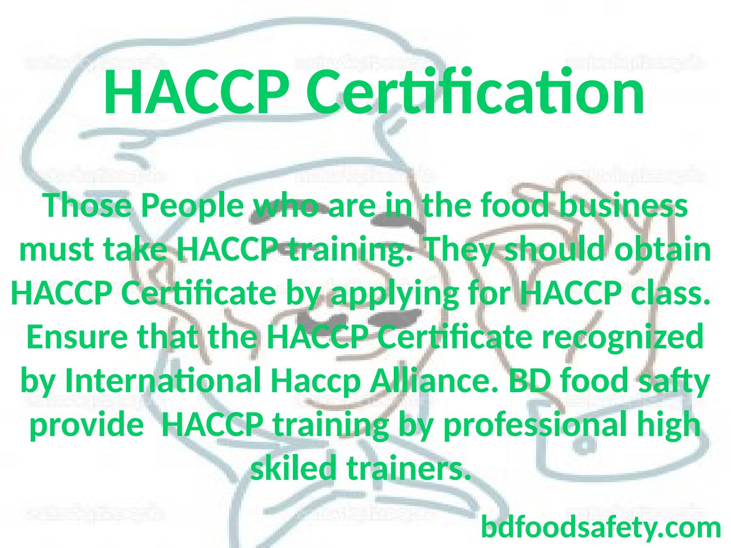 Haccp Training Chicago By Bd Food Safety Consultants Issuu