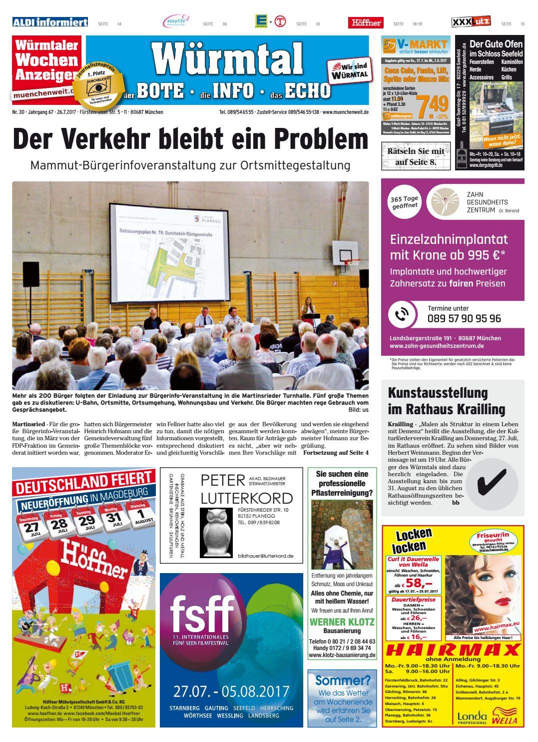 02a542fe48 KW 30-2017 by Wochenanzeiger Medien GmbH - issuu