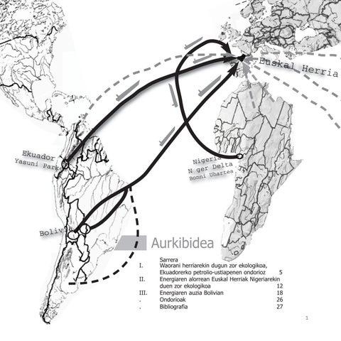 """Cover of """"Euskal zor ekologikoa Ekuador, Bolivia, Nigeria"""""""