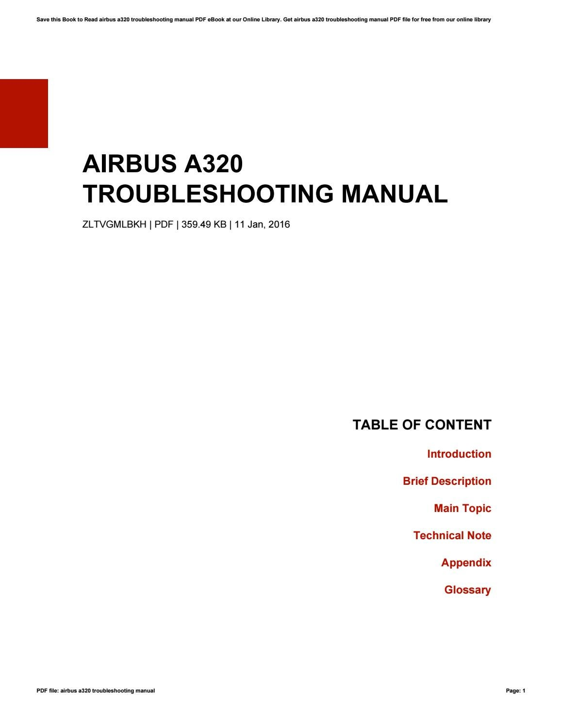 Airbus a320 troubleshooting manual by ernestmcdowell4614 issuu sciox Images