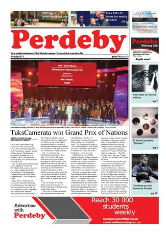 14 august 2017 issue 12 year 79 by perdeby issuu 24 july 2017 issue 10 year 79 fandeluxe Gallery