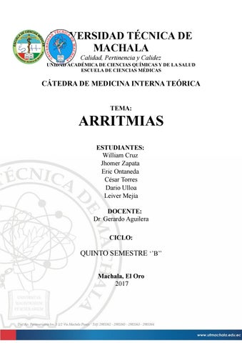 19 Arritmias cardiacas by Jhômêr ZâpâTâ - issuu
