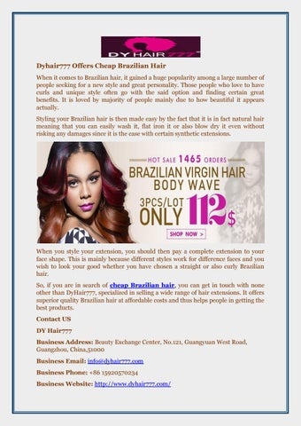 Dyhair777 Offers Brazilian Hair When It Comes To Gained A Huge Pority Among Large Number Of People Seeking For New Style