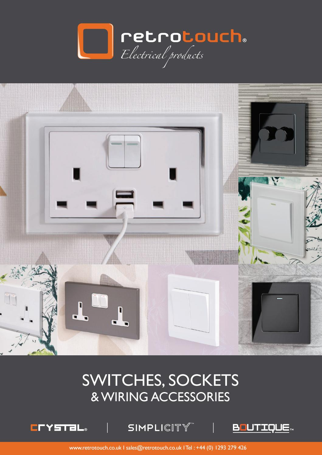 Simplicity Charcoal Screwless 13A Double Plug Socket 07443