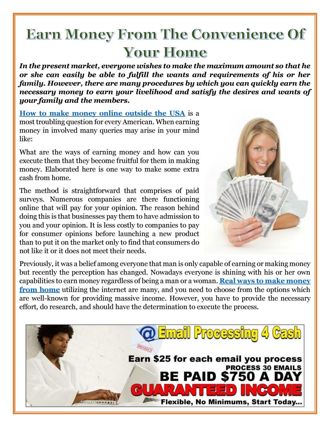 Earn Money Online Usa