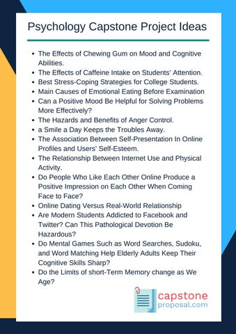 psychology project topics My research and supervision interests include, broadly speaking, critical  neuroscience and critical psychology these projects seek to.