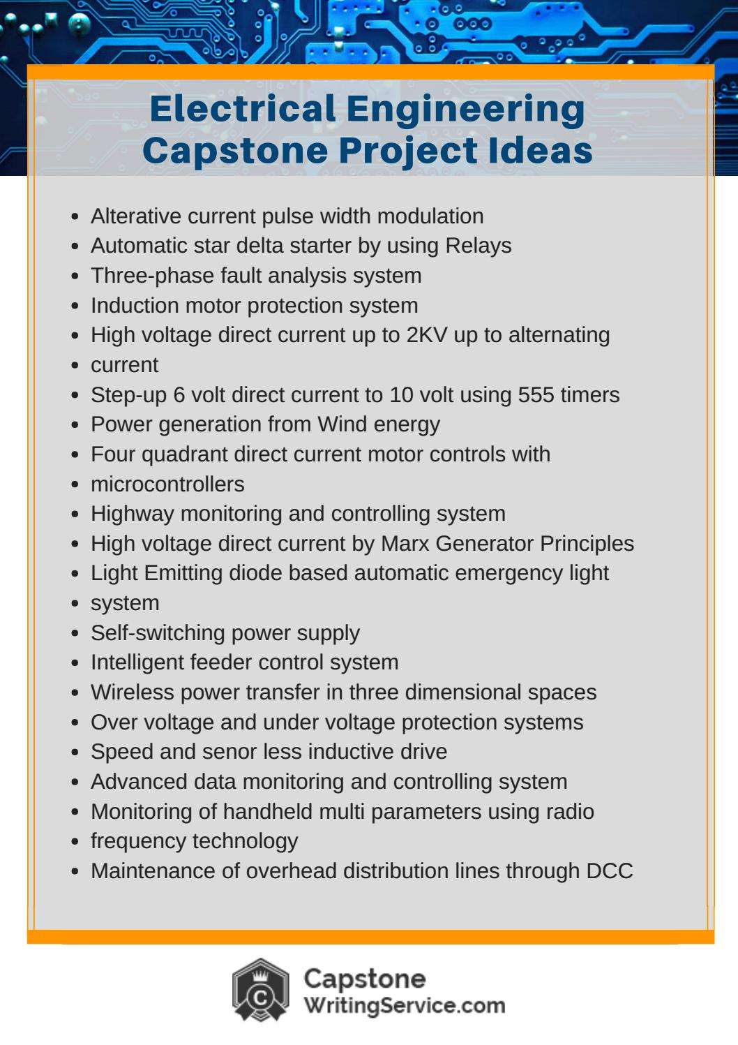 Electrical Engineering Capstone Project Ideas By Capstone