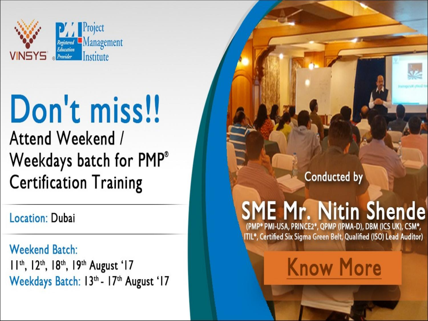 Pmp Training Certification Course In Dubai Vinsys By Vinsys Issuu