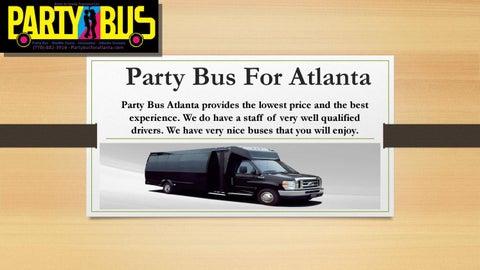Luxury Rental Cars Atlanta Ga By Party Bus For Atlanta Issuu