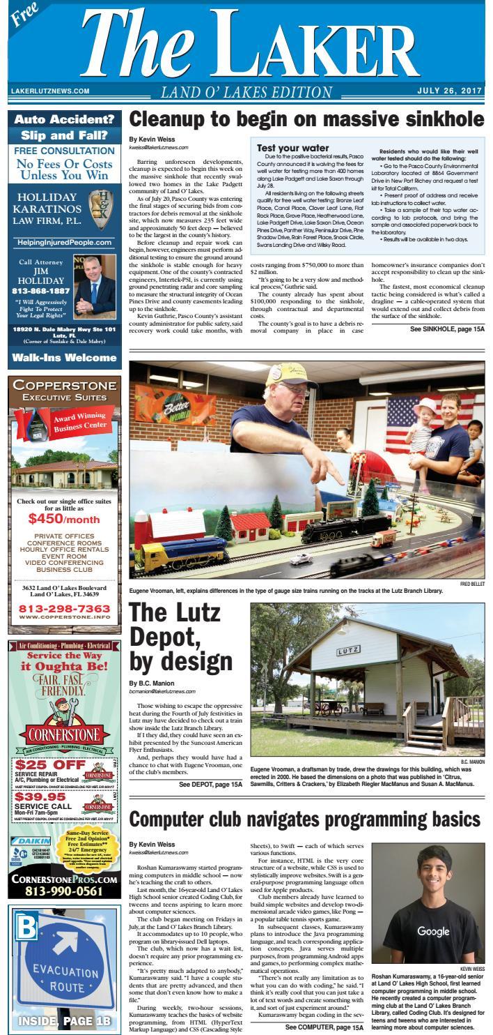 The Laker-Land O' Lakes-July 26, 2017 by LakerLutzNews - issuu