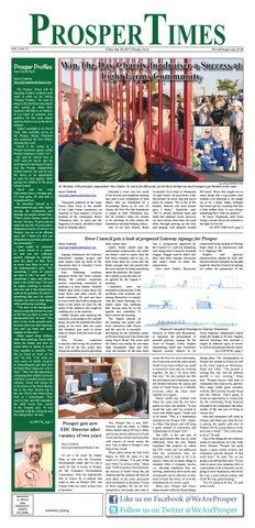 The Prosper Times News | 7-28-2017 by Cedarbrook Media Group