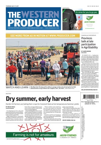 93dad409 The western producer july 27, 2017 by The Western Producer - issuu