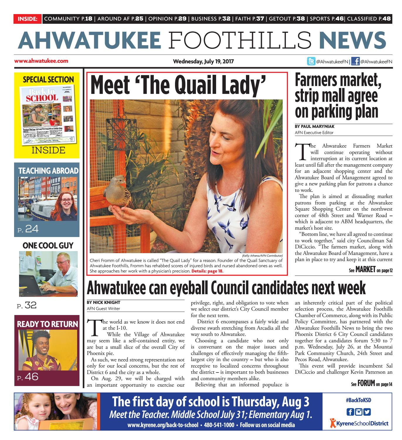 Ahwatukee Foothills News July 19 2017 By Times Media Group Issuu Arcfault Circuit Breaker Pros In Colorado Precision Plumbing And