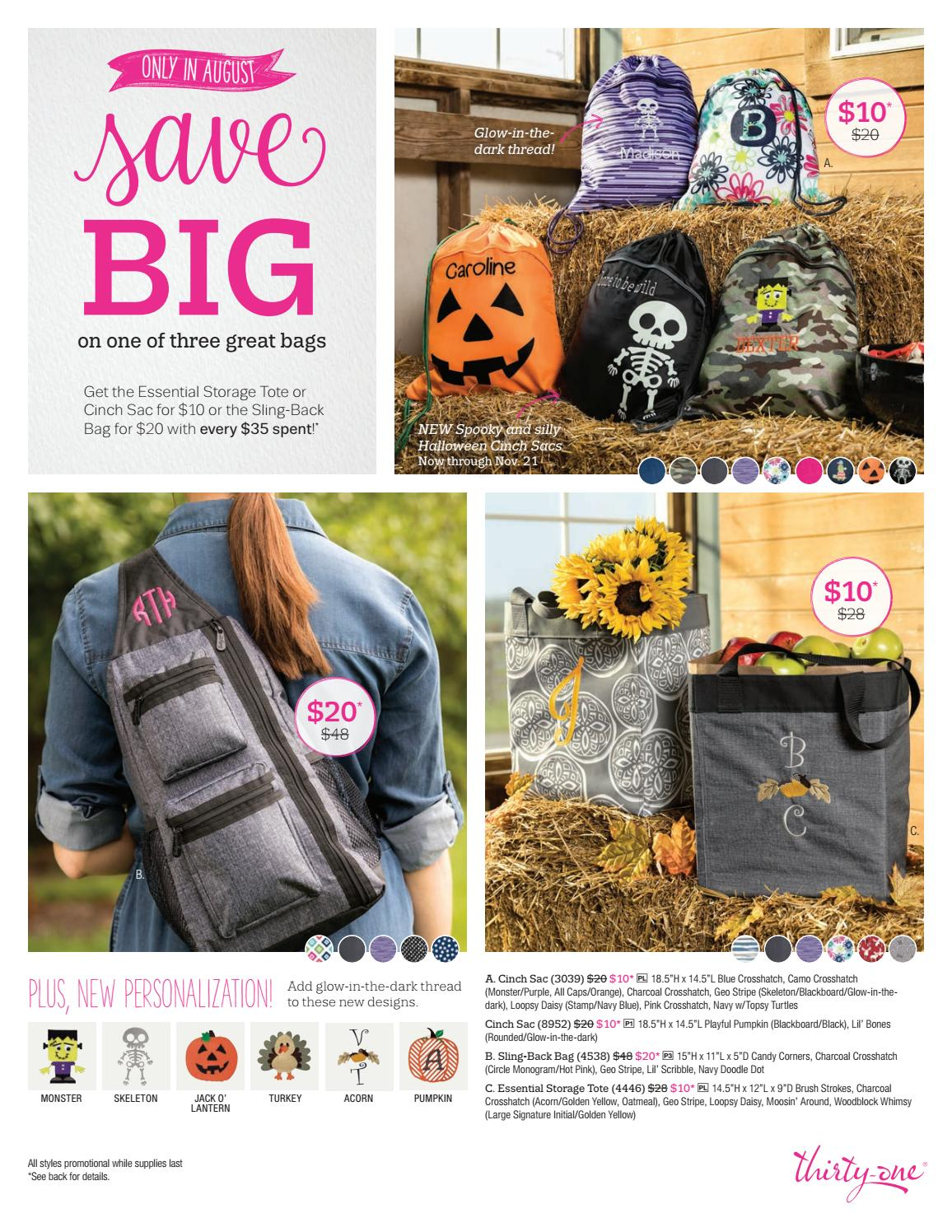 Thirty one november customer special 2014 - Thirty One Gifts August 2017 Customer Hostess Specials