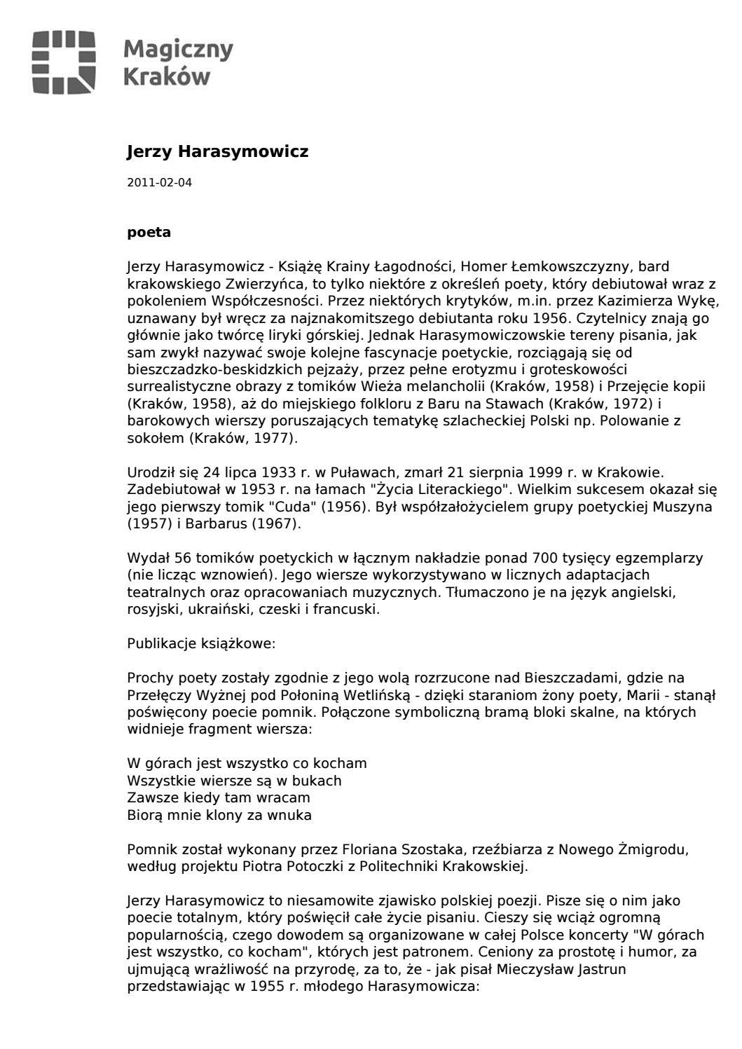 Jerzy Harasymowicz Compressed By Ciotas Issuu