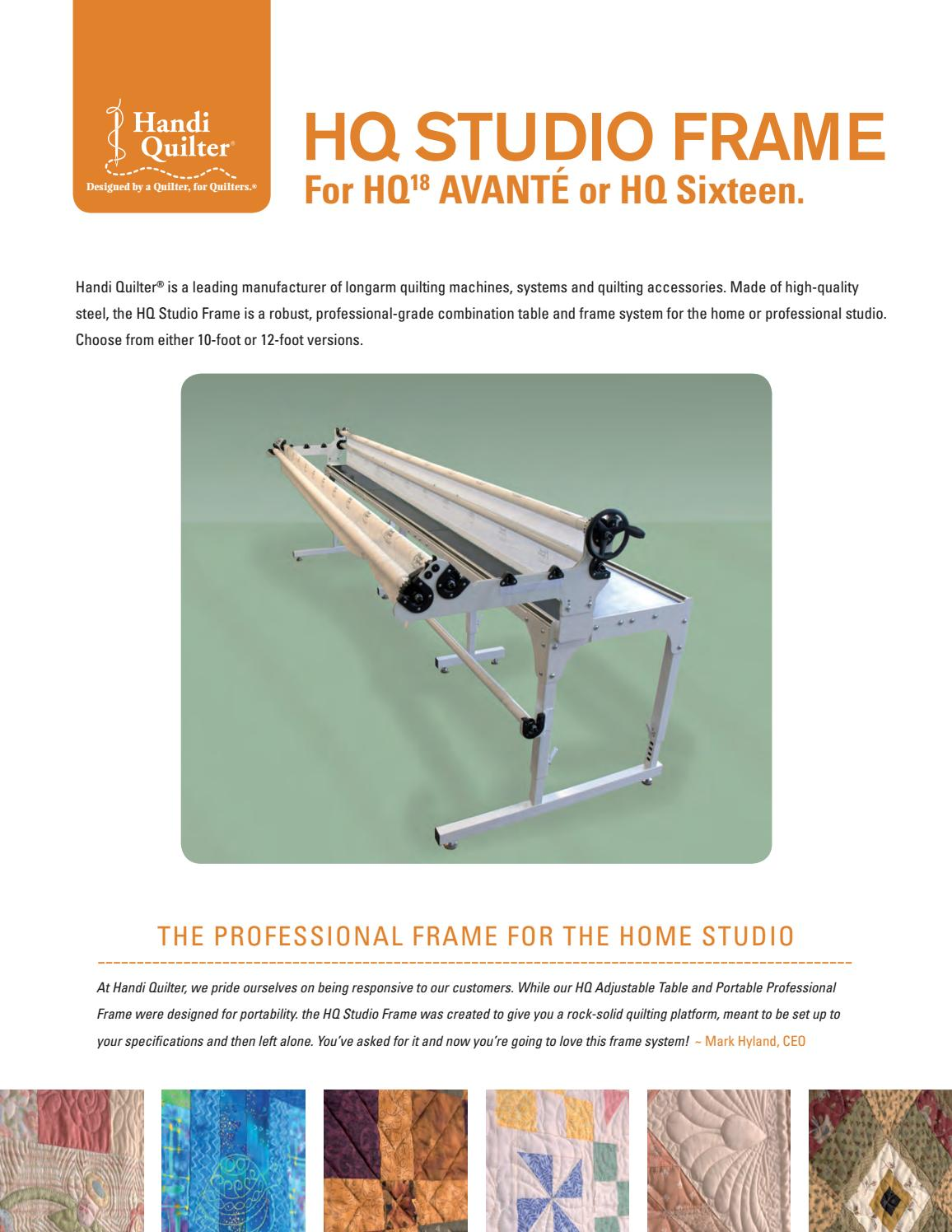 Handi Quilter Sales Sheet Hq Studio Frame By Suzannes Quilt