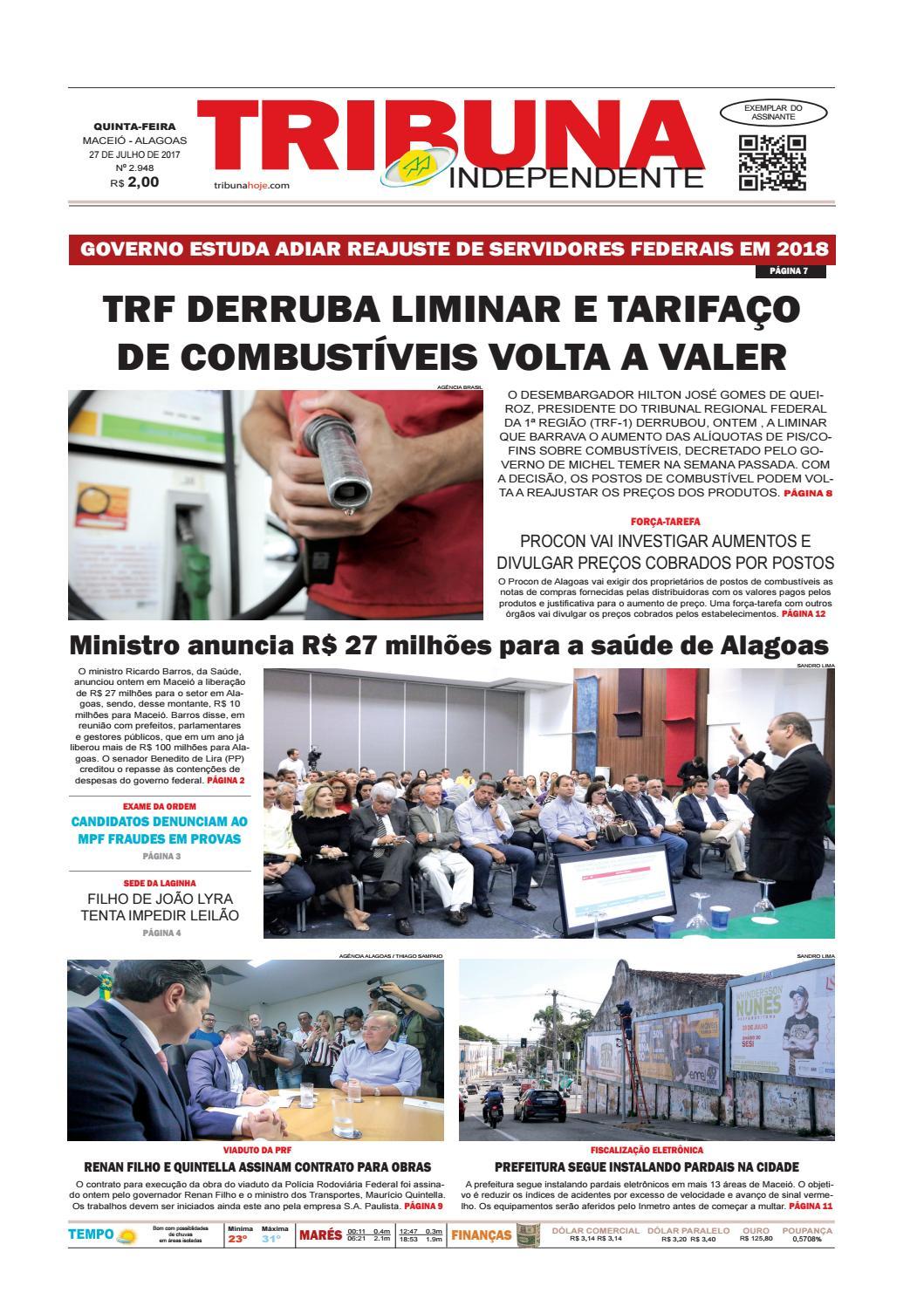 e748de7b36a84 Edição número 2948 - 27 de julho de 2017 by Tribuna Hoje - issuu