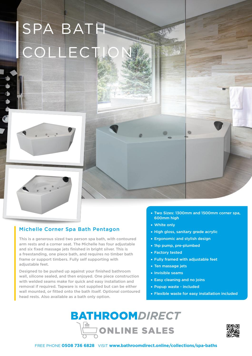 Spa bath brochure bathroom direct nz by Henry Brooks - issuu