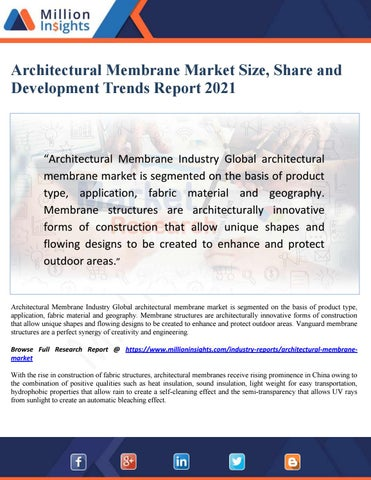 Architectural membrane market size, share and development