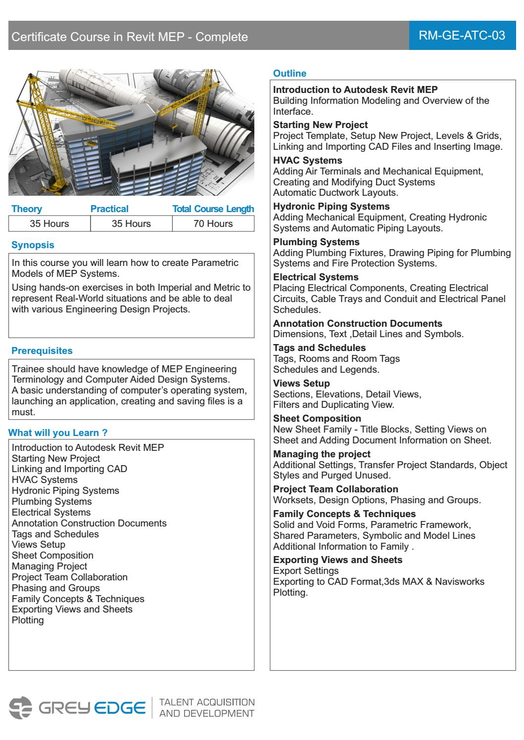 Revit MEP Training Courses Mumbai by Grey Edge - issuu