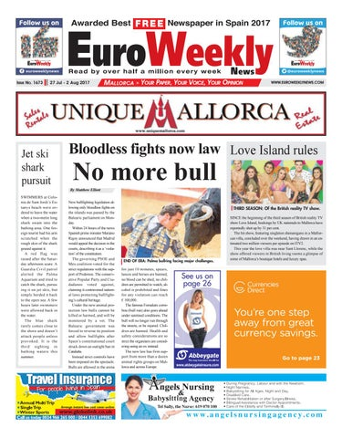 Euro weekly news mallorca 27 july 2 august 2017 issue 1673 by page 1 fandeluxe Gallery