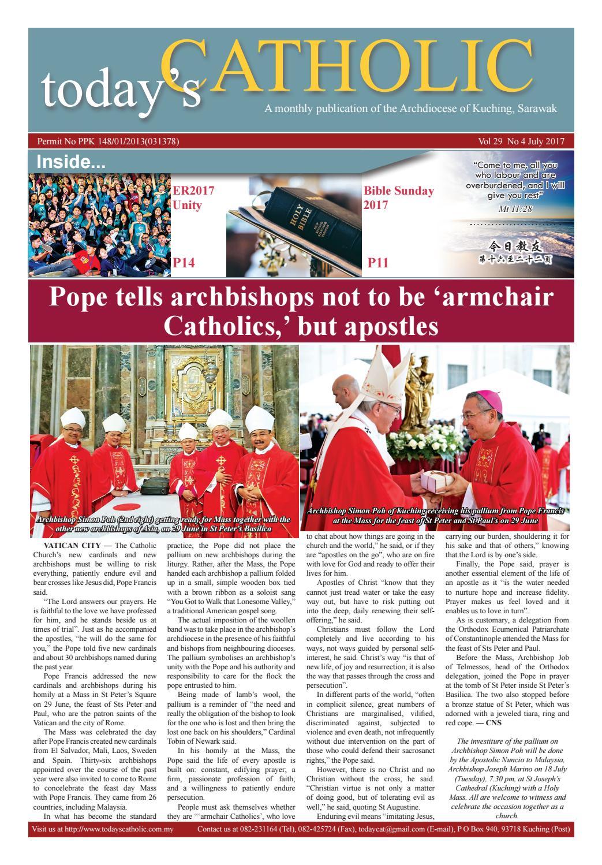 Today S Catholic Vol 29 No 4 July 2017 By Todays Catholic Issuu