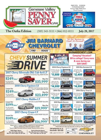 The Genesee Valley Penny Saver Oatka Edition 7/28/17 by