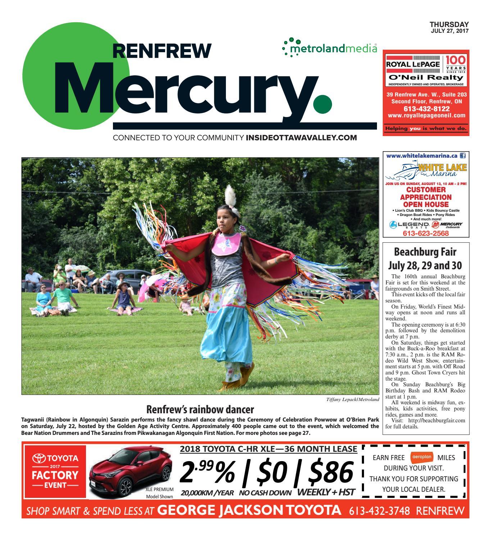 Renfrew072717 By Metroland East Renfrew Mercury Issuu The Olive House Rora 1500 Tv Cabinet
