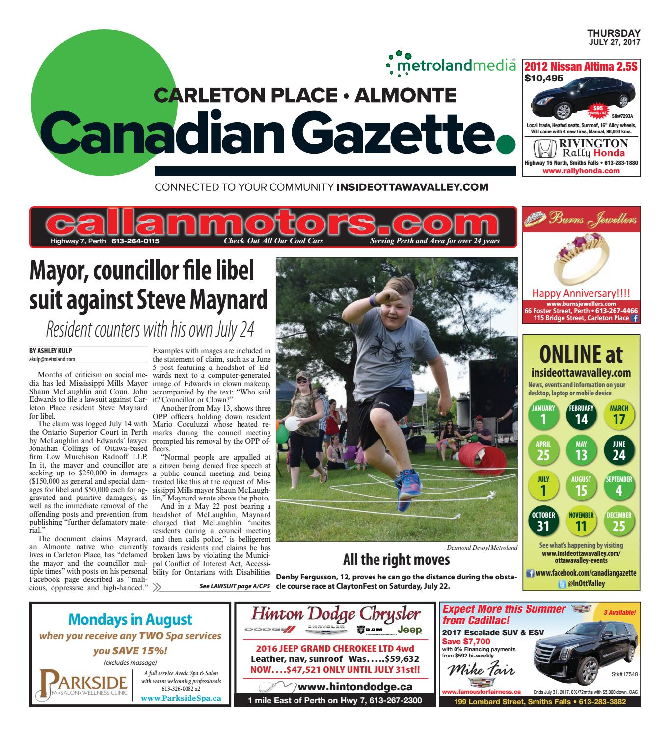 Almontecarletonplace072717 by Metroland East - Almonte Carleton Place  Canadian Gazette - issuu