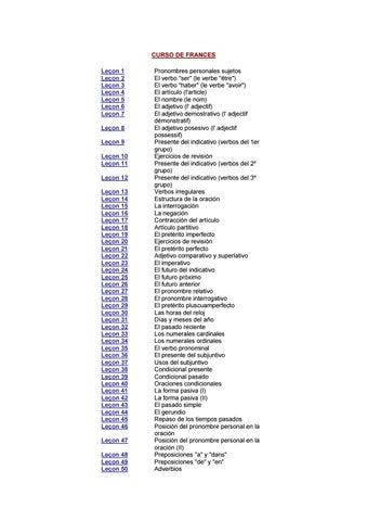 Curso Francés Español By Elboyhd Issuu