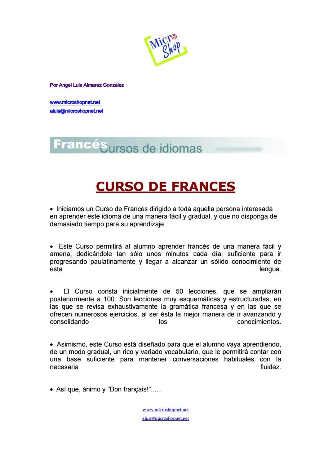 Curso De Frances En 218 Paginas By Elboyhd Issuu