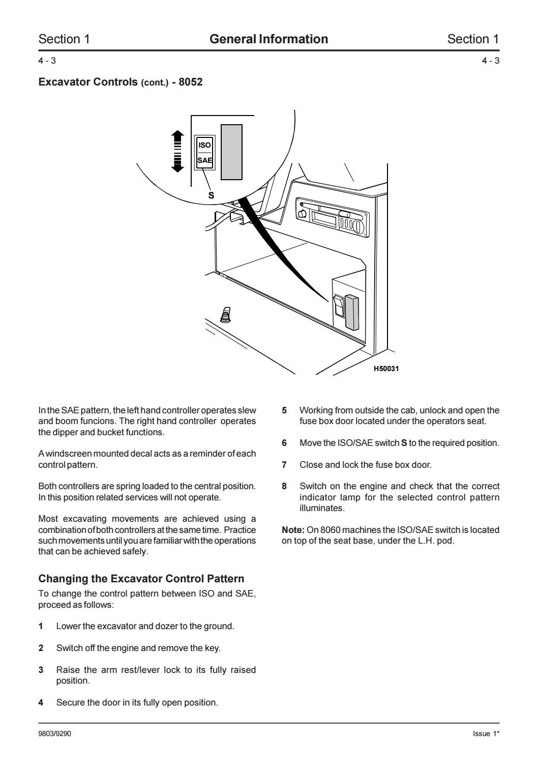 Jcb 8052 Midi Excavator Service Repair Manual Sn1178000 Onwards By Fuse Box Door Jhjsnefyudd Issuu