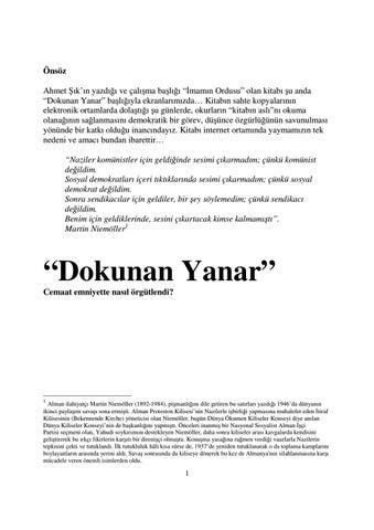 """55bec3ca8ad8e Önsöz Ahmet Şık'ın yazdığı ve çalışma başlığı """"İmamın Ordusu"""" olan kitabı  şu anda """"Dokunan Yanar"""" başlığıyla ekranlarımızda…"""