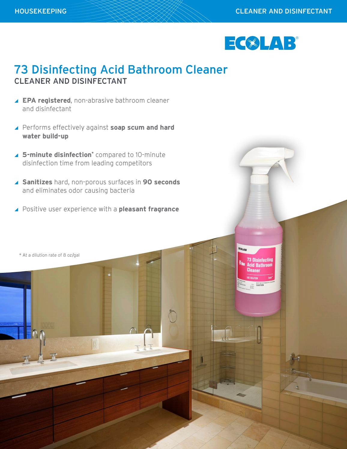 Op 73 disinfecting acid br cleaner sell sheet by ...