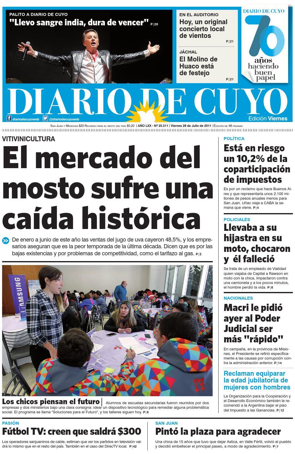 Edición del 28 de julio de 2017 by Diario de Cuyo - issuu 93a36abc16fc7