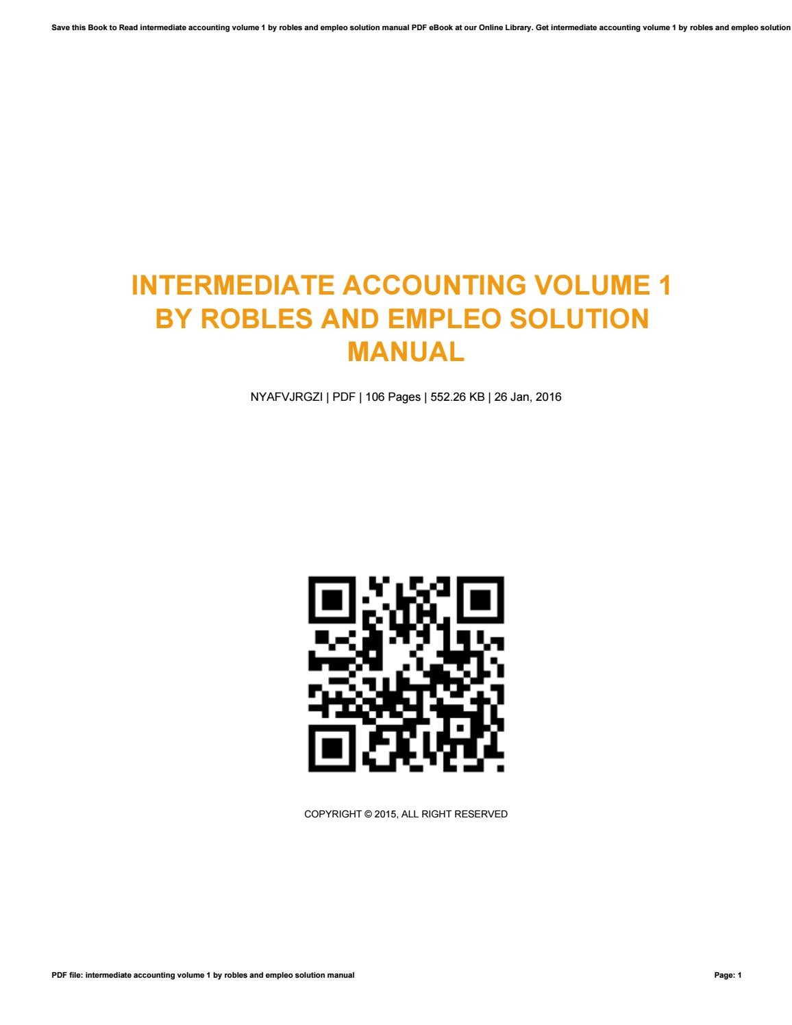 Intermediate accounting volume 1 by robles and empleo solution manual by  JonathanGrissett1526 - issuu