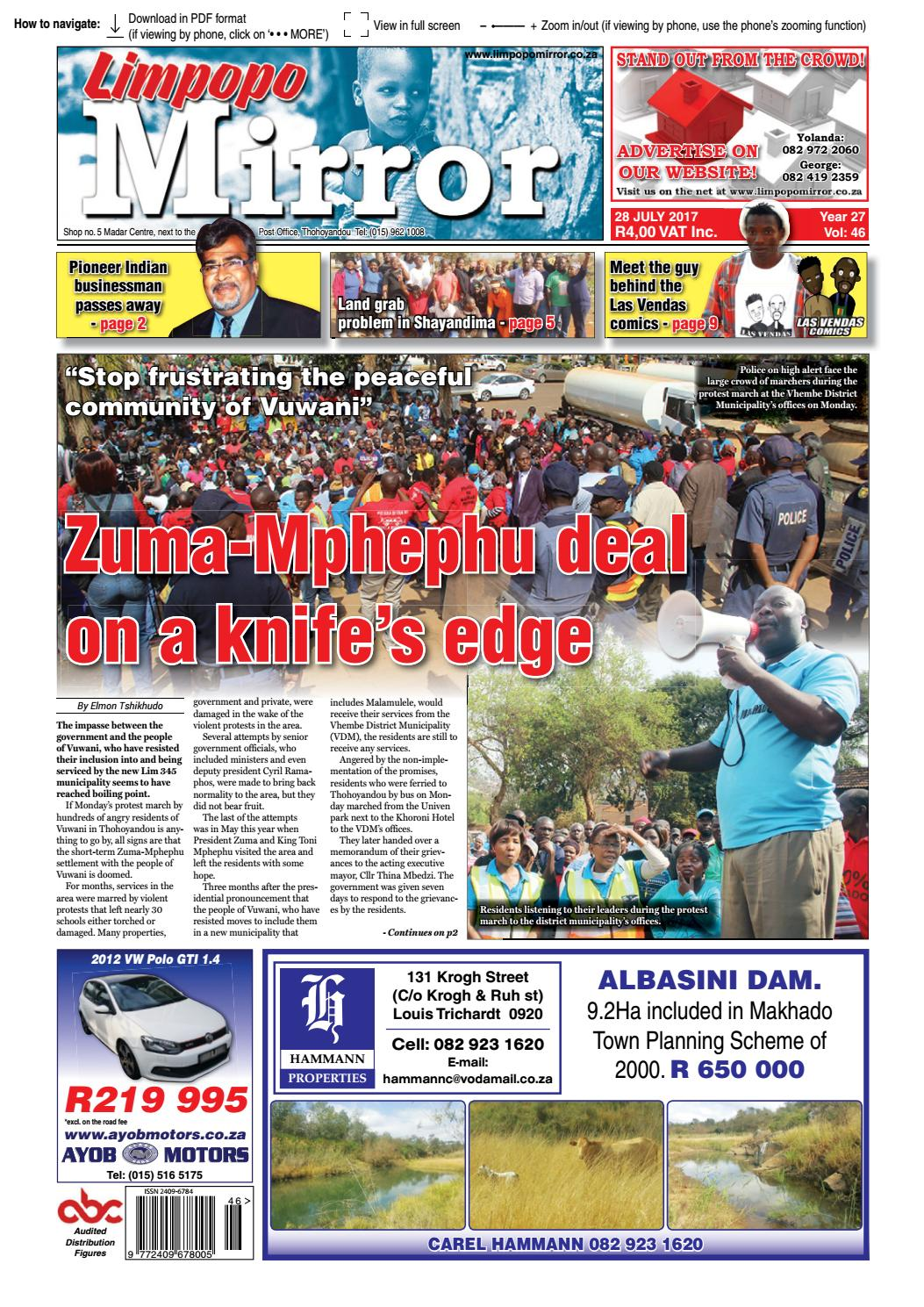 28 July 2017 Limpopo Mirror By Zoutnet Issuu