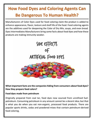 How Food Dyes and Coloring Agents Can Be Dangerous To Human ...