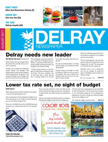 Delray newspaper august 2017 by four story media group issuu dont miss dine out downtown delray 5 malvernweather Images