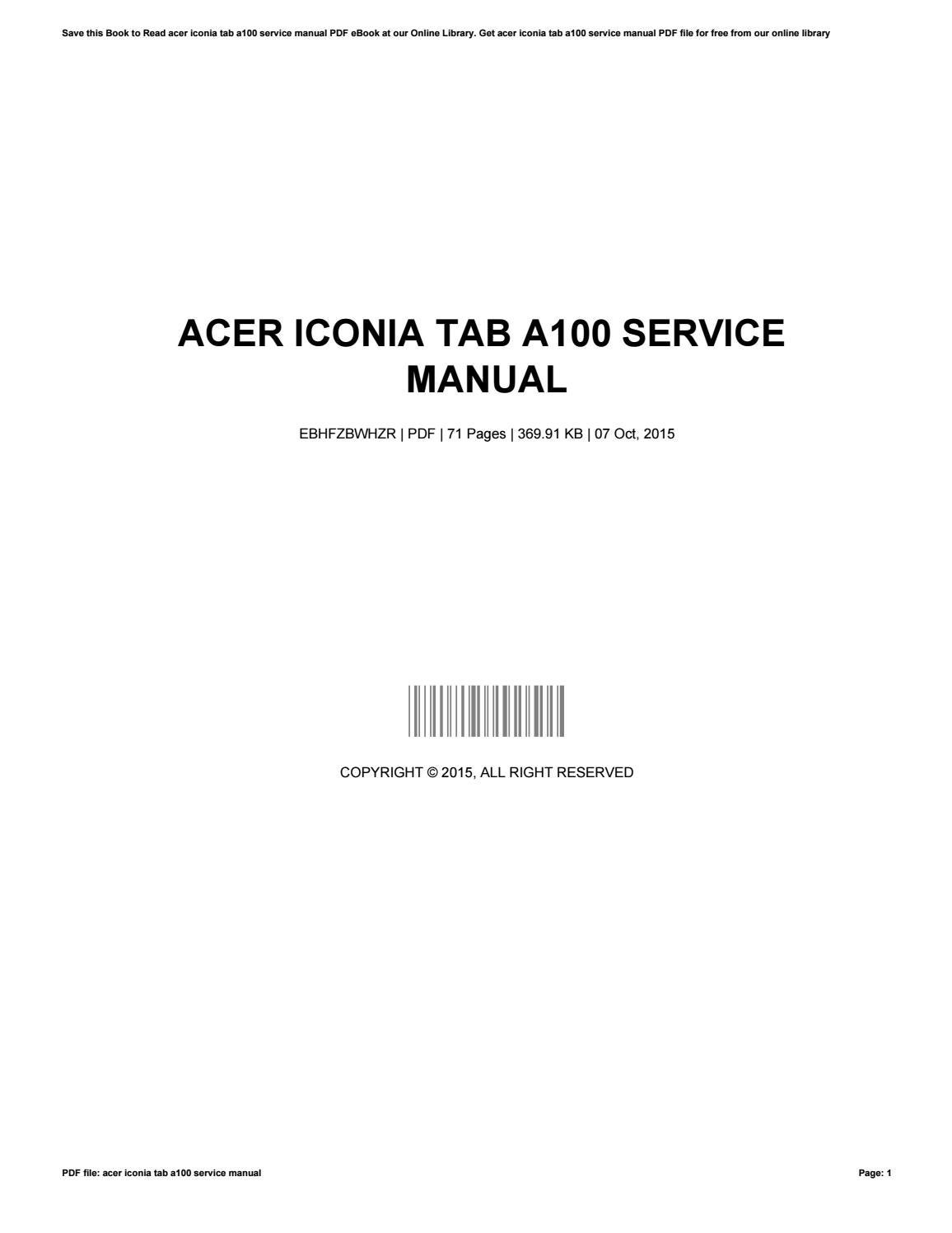 Acer iconia tab w501 manuals.